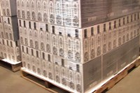 A pallet of No. 209 gin ready for shipping